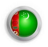 Bouton indicateur de turkménistan — Vecteur