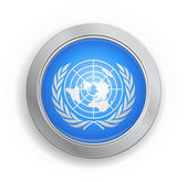 United Nations Flag Button — Stock Vector