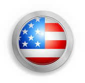 United States of America Flag Button — Stock Vector