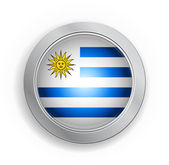 Uruguay Flag Button — Stockvektor