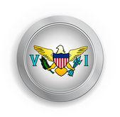 美属维尔京群岛的美国国旗按钮 — 图库矢量图片