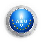 Western European Union Flag Button — Stock Vector