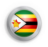 Zimbabwe Flag Button — Stock Vector