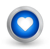 3D Blue Button - Favorite — Stock Vector
