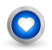 3D Blue Button - Favorite — Stock Vector