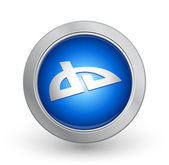 3D Blue Button - Deviant Art — Stock Vector