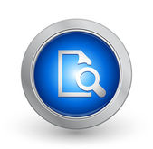 3D Blue Button - Search Document — Stock Vector
