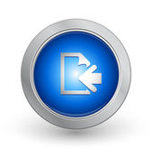 3D Blue Button - Previous Page — Vector de stock