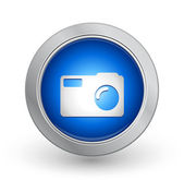 3d bouton bleu - capture — Vecteur
