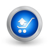 3D Blue Button - Remove from cart — Stock Vector