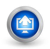 3D Blue Button - Upload — Stock Vector
