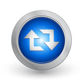 3D Blue Button - Retweet — Stock Vector