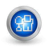 3D Blue Button - Digg — Stock Vector