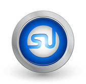3D Blue Button - StumbleUpon — Stock Vector