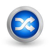 3D Blue Button - Shuffle — Stock Vector