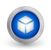 3D Blue Button - Box — Stock Vector