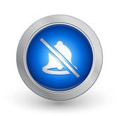 3D Blue Button - No Alarm — Stock Vector