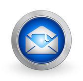3D Blue Button -Inbox — Stock Vector