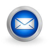 3D Blue Button - Inbox — Stock Vector