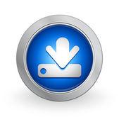 3D Blue Button - Download — Stock Vector