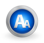 3D Blue Button - Font size — Stock Vector