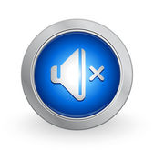 3D Blue Button - Volime — Stock Vector