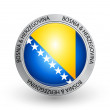 Badge - Bosnia & Herzegovina flag — Stock Vector