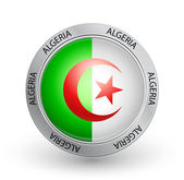 Badge - Algeria flag — Stock Vector