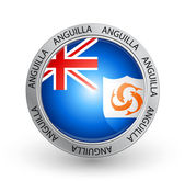 Badge - Anguilla flag — Stok Vektör