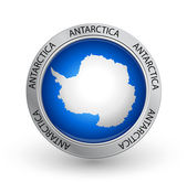 Badge - Antarctica flag — Stock Vector