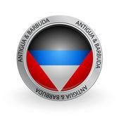Badge - Flag of Antigua & Barbuda — Stock Vector