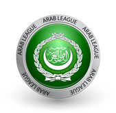 Badge - Arab League flag — Stock Vector