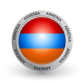 Badge - Armenia flag — Stock Vector