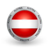 Badge - Austria flag — Stock Vector