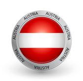 Badge - Austria flag — Stock Vector