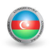 Badge - Azerbaijani Republic flag — Stock Vector