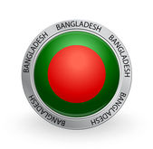 Badge - Bangladesh flag — Stock Vector