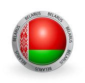 Badge - Belarus flag — Stock Vector