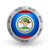 Badge - Belize flag — Stock Vector