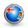 Badge - Flag of British Overseas Territory of the Cayman Islands — Stock Vector