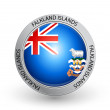 Badge - Falkland Islands flag — Stock Vector #6610275