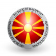 Badge - Flag of Republic of Macedonia — Stock Vector