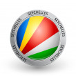 Royalty-Free Stock Vector Image: Badge - Seychelles flag