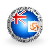 Badge - Flag of British Overseas Territory of Anguilla — Stock Vector