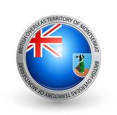 Badge - Flag of British Overseas Territory of Montserrat — Stock Vector