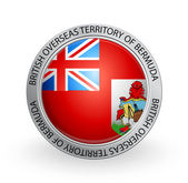 Badge - Flag of British Overseas Territory of Bermuda — Stock Vector