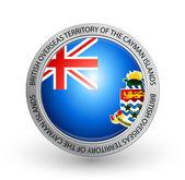 Badge - Flag of British Overseas Territory of the Cayman Islands — Stock Vector
