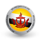Badge - Brunei Darussalam flag — Stock Vector
