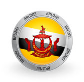 Badge - Brunei flag — Stock Vector