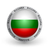 Badge - Bulgaria flag — Stock Vector